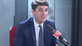 Aurélien Pradié, député du Lot et secrétaire général des Républicains sur RFI, le 11 décembre 2019.