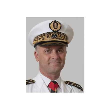 Vice-amiral d'escadre Marin Gillier, responsable du programme ACTS.
