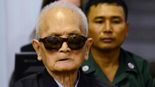 Nuon Chea, second-in-command to Khmer Rouge leader Pol Pot during the Cambodian Genocide of 1975-1979, in Phnom Penh, 23 November 2016.