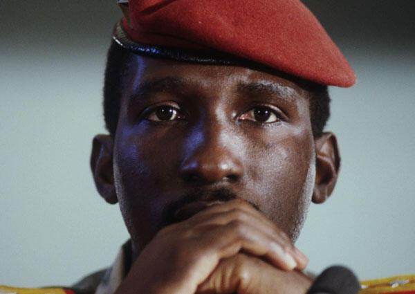 L'ancien président du Burkina FasoThomas Sankara, assassiné en 1987.