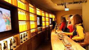 Dans le Irish whiskey museum de Dublin.