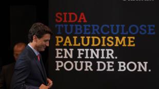 Thủ tướng Canada Justin Trudeau tại hội nghị quốc tế của Quỹ phòng chống SIDA, lao và sốt rét.