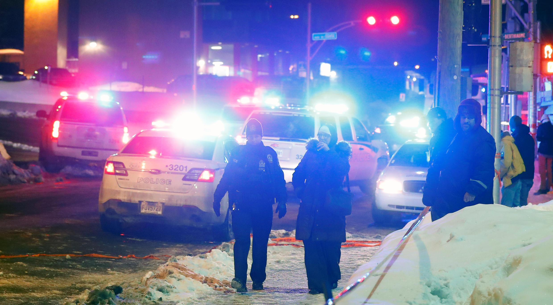 Место теракта в Квебеке 30 января 2017