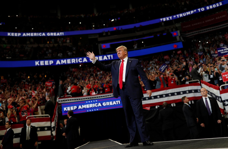 Donald Trump akizindua kampeni zake mjini Florida Juni 18 2019