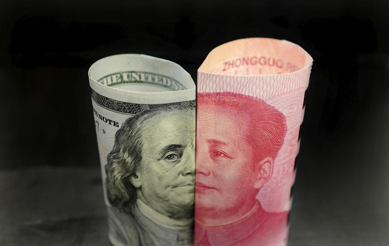 美元与人民币示意图资料图片