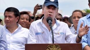 O presidente colombiano Juan Manuel Santos.