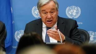 António Guterres, secretário-geral da Organização das Nações Unidas.