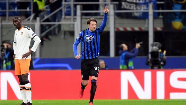Le Néerlandais Hans Hateboer a inscrit un doublé pour l'Atalanta Bergame contre le FC Valence, le 19 février 2020.