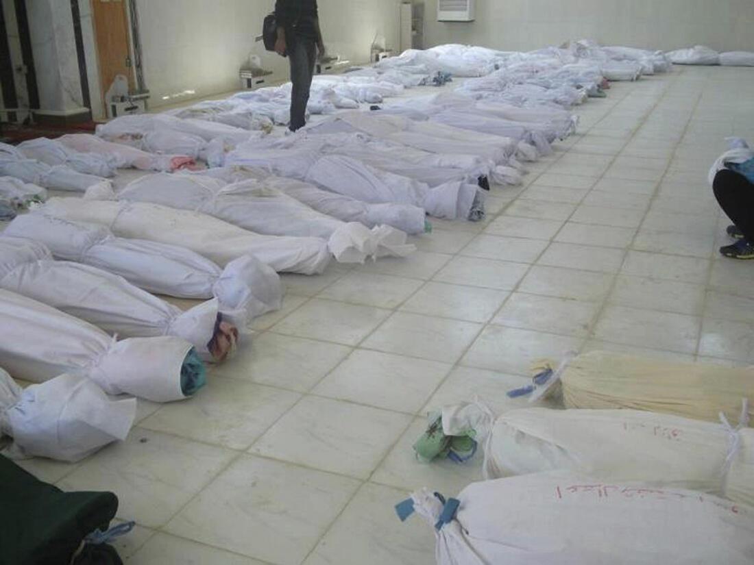 Thi thể những nạn nhân của  vụ thảm sát Houla gần Homs, ngày 26/05/2012.