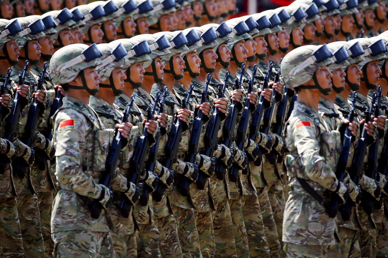 Diễn binh trước Thiên An Môn, 03/09/2015.