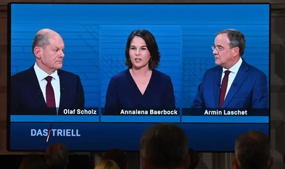 德国大选社民党、绿党和基民盟候选人参加政策辩论