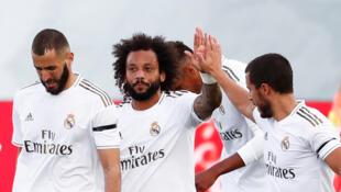 Marcelo - Real Madrid - Hazard - Benzema - Futebol - Football - Liga