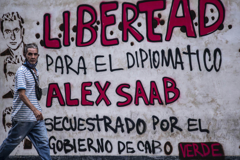Un graffiti en Caracas pide la libertad de Alex Saab