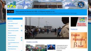 Capture d'écran du site de la Radio publique africaine, une radio privée du Burundi.