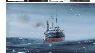 Vignette tirée du roman graphique «La Lune est blanche», d'Emmanuel Lepage.