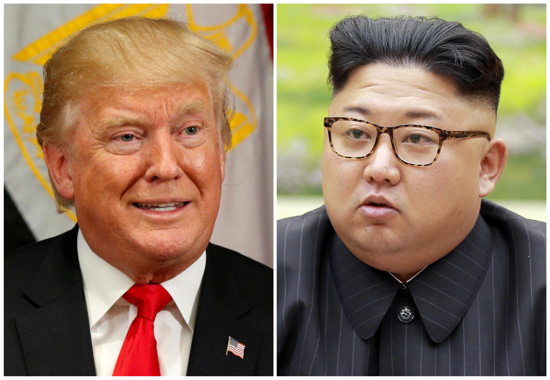 کیم جونگ اون و دونالد ترامپ، رهبران کره شمالی  و ایالات متحد آمریکا