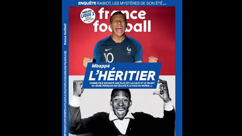 A resenha de imprensa: a revista France Football encontrou o herdeiro de Pelé nesta Copa: é o francês Mbappé