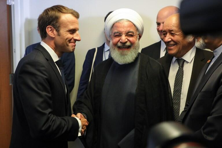 دیدار روحانی با ماکرون در حاشیه مجمع عمومی سازمان ملل متحد در نیویورک