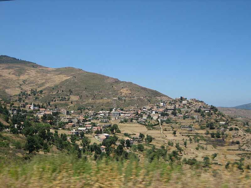 Landscape of Kabylie, Algeria