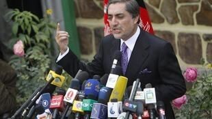 L'ancien candidat à la présidentielle afghane Abdullah Abdullah, le 4 novembre 2009 à Kaboul.