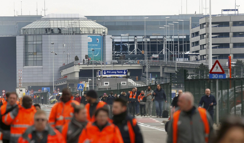 Nhà ga sân bay quốc tế Bruxelles-Zaventem, Bỉ, sau vụ nổ bom, 22/03/2016