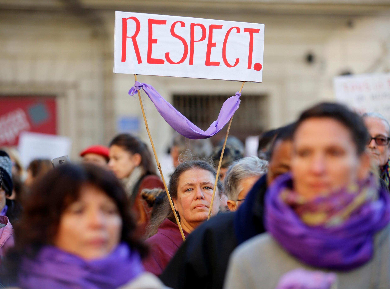 На демонстрации против насилия над женщинами в Париже, 24 ноября 2018 г.