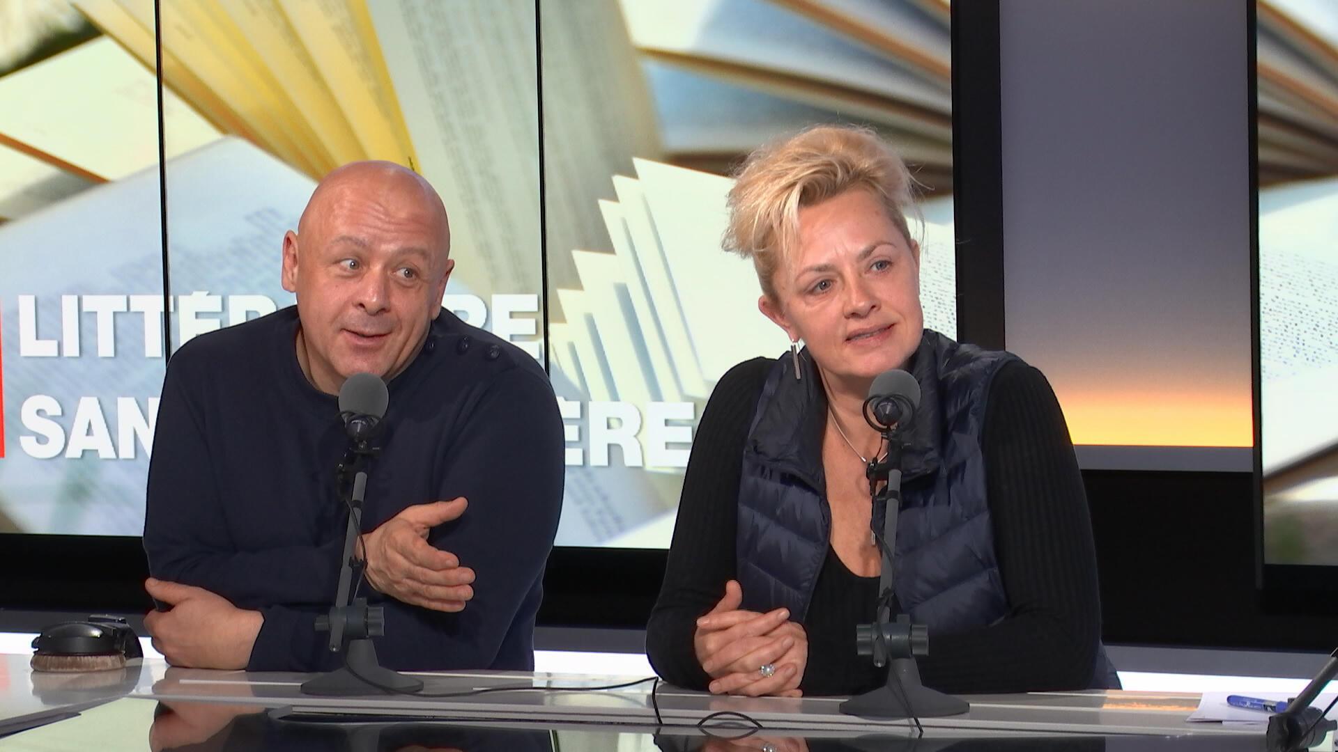 Le chef cuisinier Thierry Marx et la romancière Odile Bouhier.