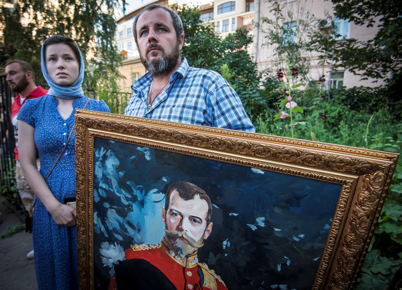 Акция против фильма Алексея Учителя «Матильда» в Москве, 1 августа 2017 г.