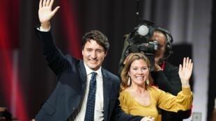 Firaministan Canada  Justin Trudeau da  mai dakin sa Sophie Gregoire Trudeau