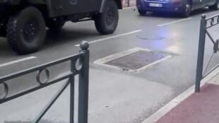 Polícia cercou área em torno do Museu de Saint-Raphaël, no sul da França.