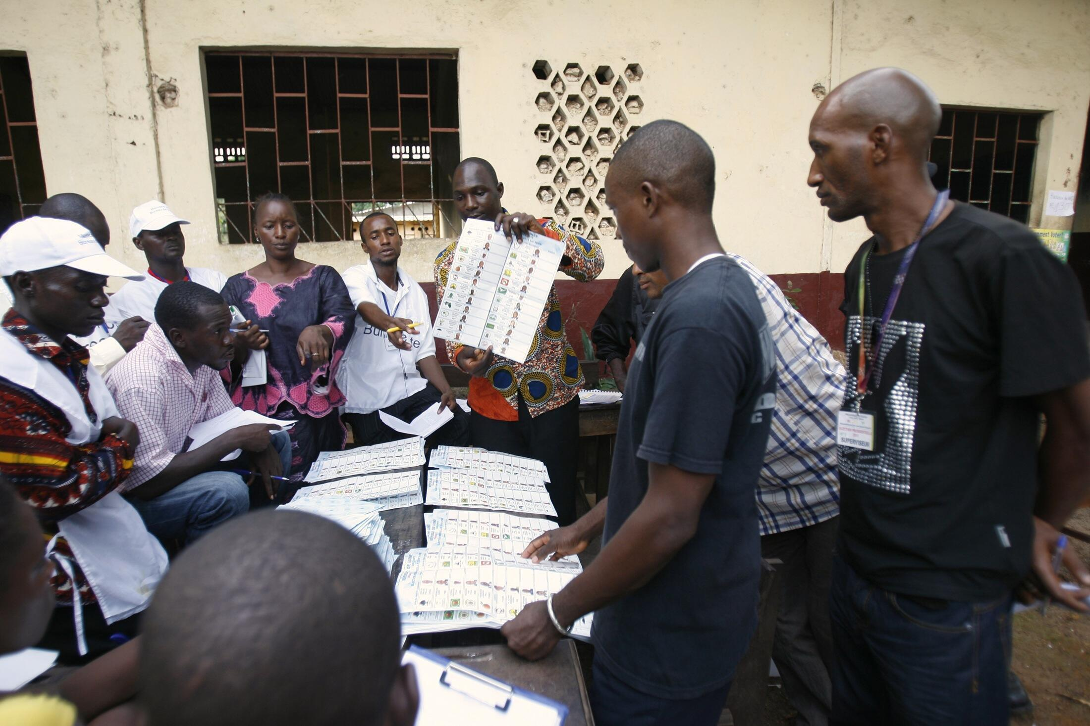 Vote counting in Guinea's June 2010 vote