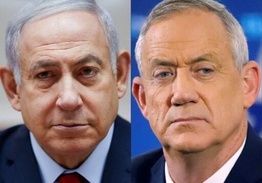 Waziri Mkuu wa Israeli Benjamin Netanyahu na Jenerali mstaafu Benny Gantz.