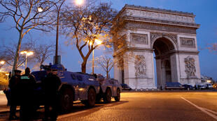The Arc de Triomphe,damaged by protesters in December, will remain off-limits during this weekend's Journée du Patrimoine..