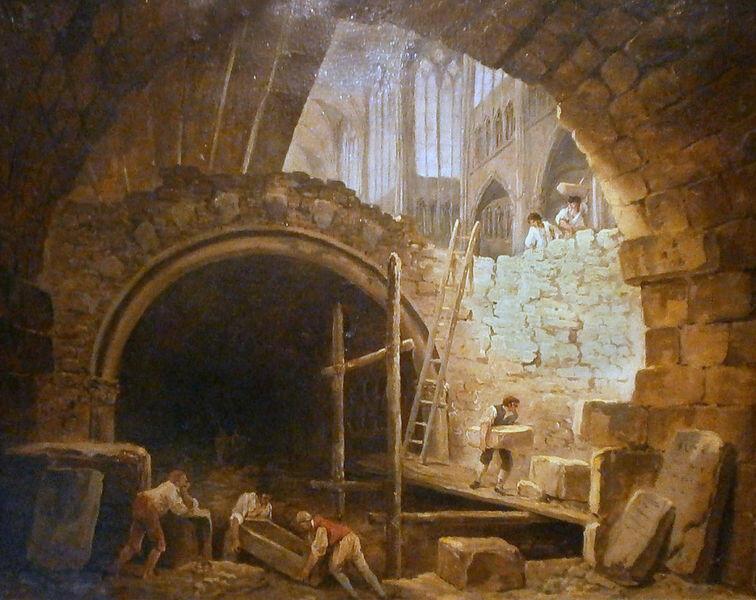La profanación del sepulcro de los reyes en la Basílica Saint-Denis.