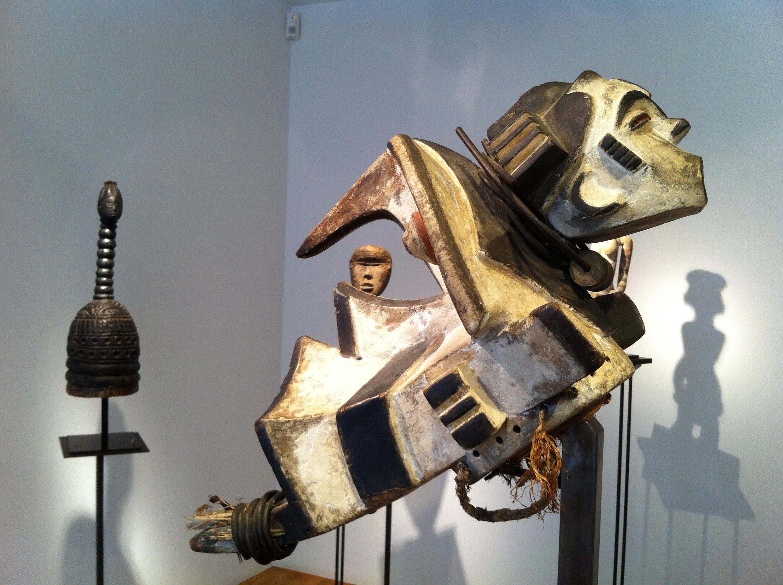 Masque éléphant Igbo-Izi du Nigeria, exposé à la galerie Dandrieu-Giovagnoni à l'occasion du Parcours des mondes, du 9 au 14 septembre à Paris.