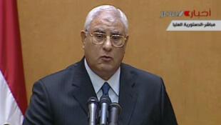 عدلی منصور، رئیس جمهور موقت مصر امروز سوگند یاد کرد