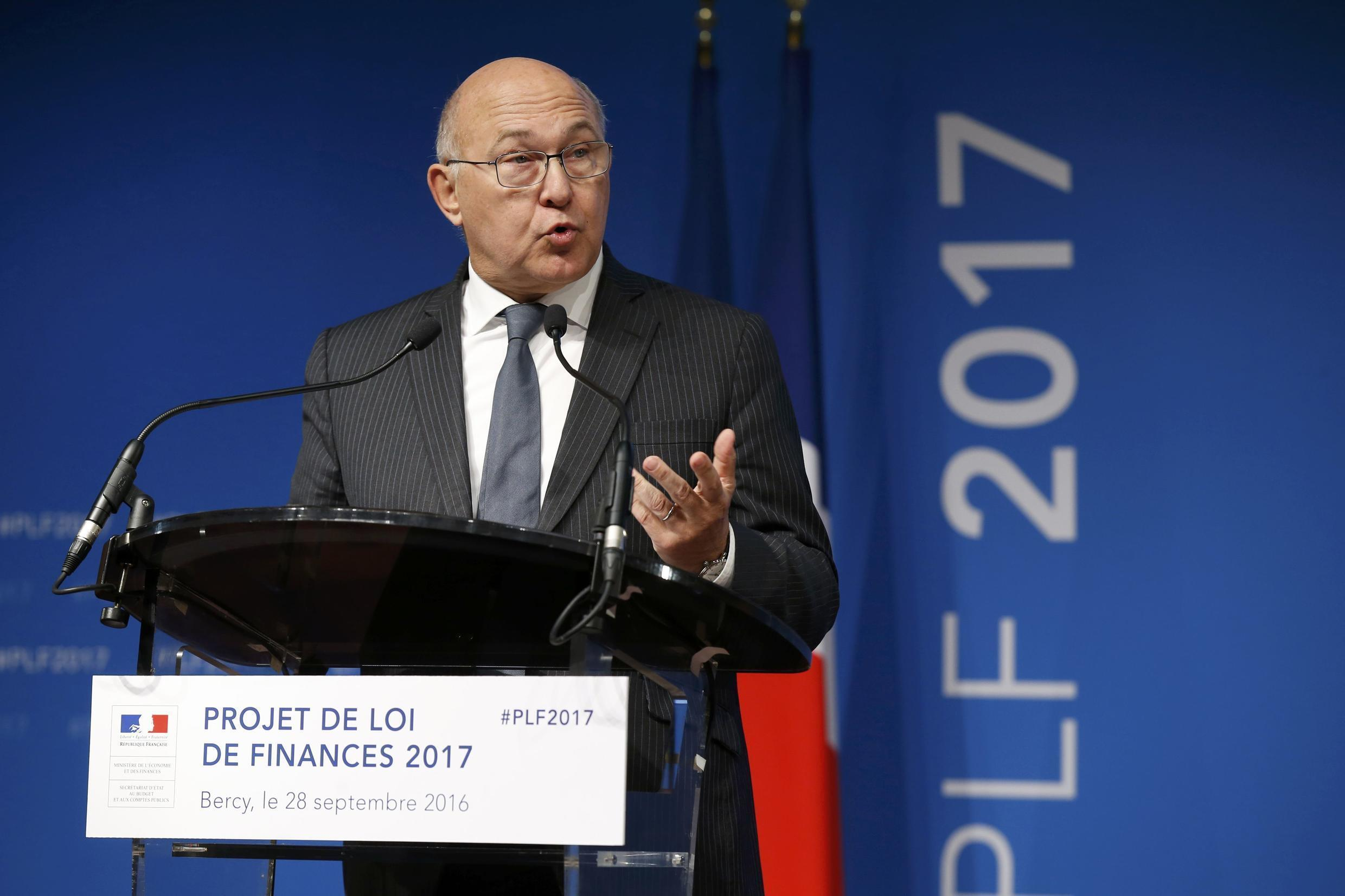 French Economy Minister Michel Sapin