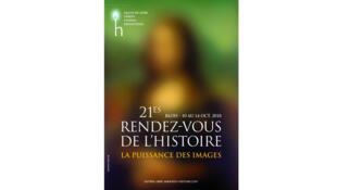 Affiche du Festival des XXIèmes Rendez-vous de l'histoire de Blois.