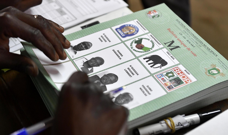Un bureau de vote le 13 octobre 2018 à Bouaké (illustration).