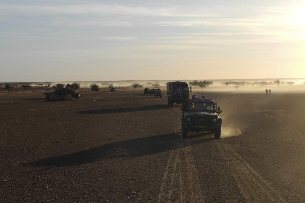 Wanajeshi wa Mali, askari wa kikosi cha pamoja cha G5 Sahel, wakipiga doria karibu na mpaka na Burkina Faso. (picha ya kumbukumbu)