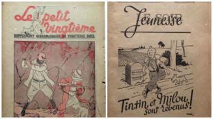 Vikatuni vya Tintin juu ya ujana.
