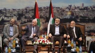 Manyan Wakilan Hamas da Fatah na Falasdinawa da tattauna yarjejeniyar kafa gwamnatin Hadaka