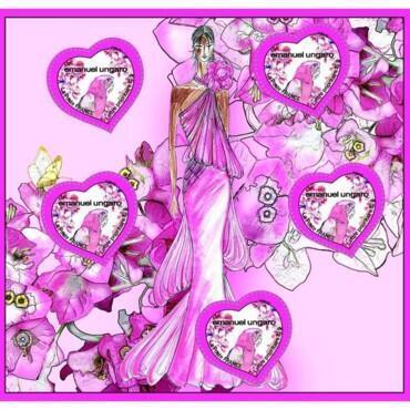 法国邮局每年都与著名时尚品牌设计师合作,推出以情人节为主题的系列邮票。
