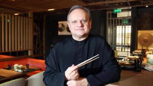 Vua đầu bếp Joël Robuchon tại Monaco, 12/2008.
