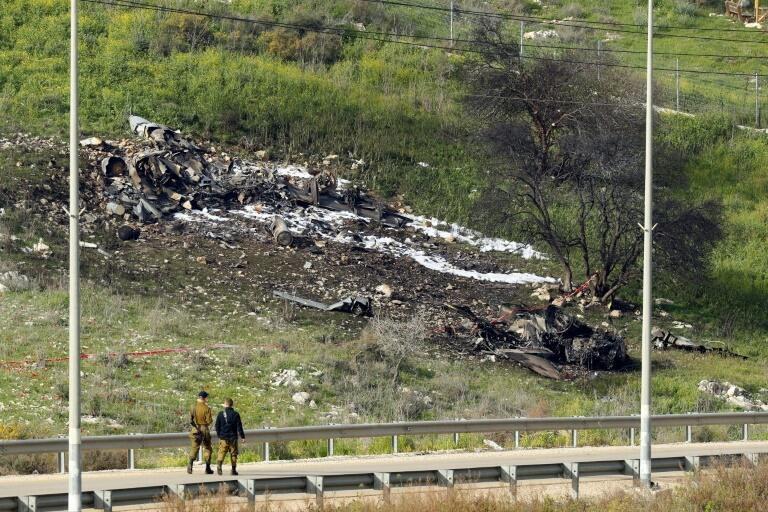 Chiến đấu cơ Israel rơi ngày 10/02/2018, ở miền bắc Israel sau khi bị phòng không Syria bắn trúng.