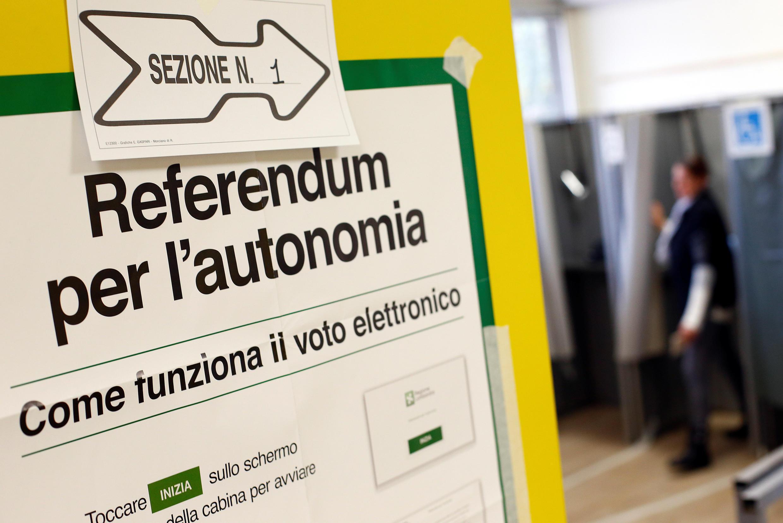 A Lombardia e o Véneto aprovaram referendo em prol de maior autonomia a 22 de Outubro de 2017.