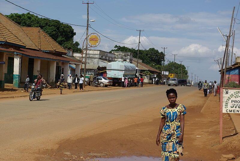 Mbau est une localité située non loin de Beni, représentée ici.