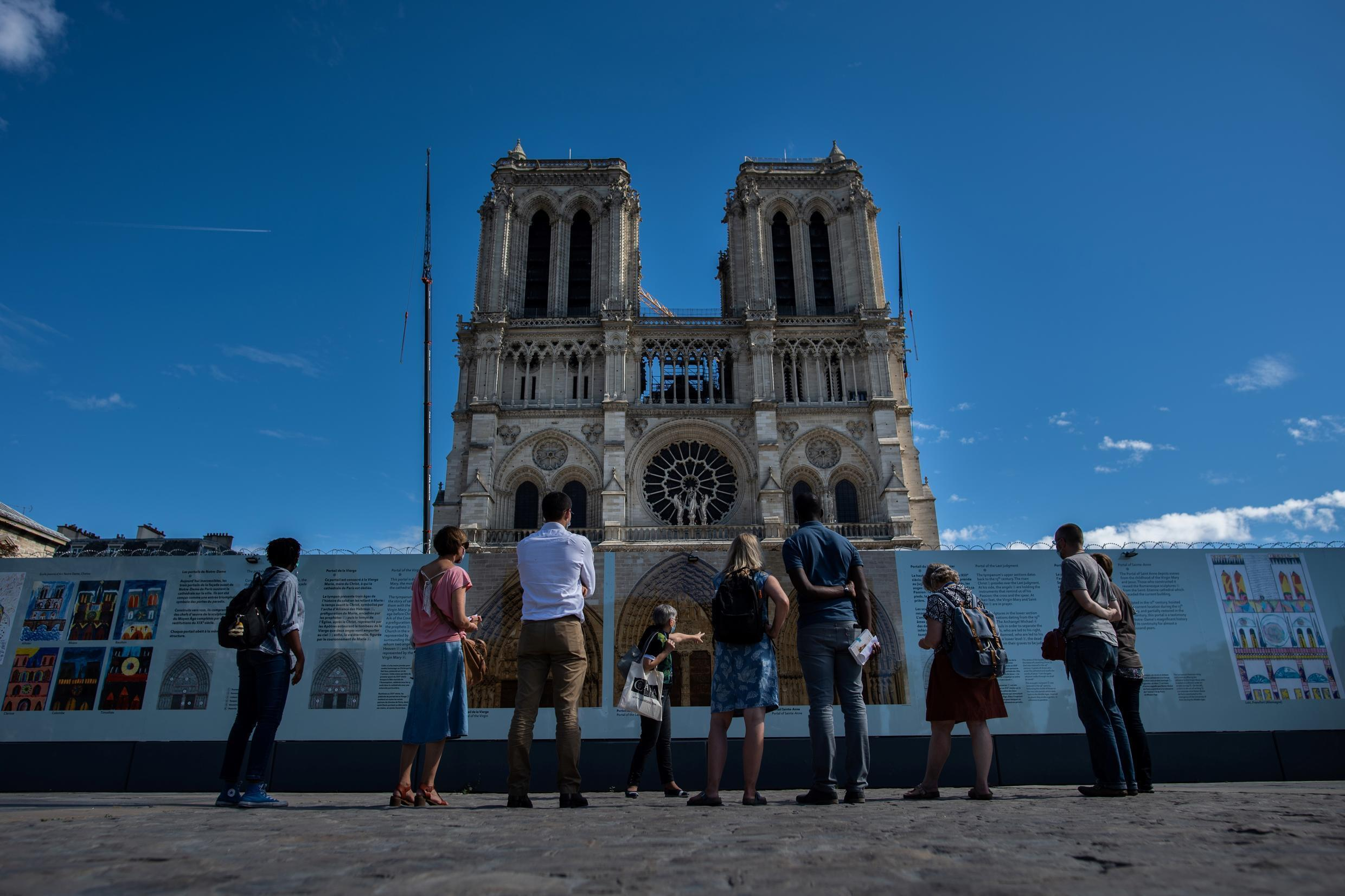 France is racing to have Notre-Dame rebuilt in time for the 2024 summer Olympics in Paris.
