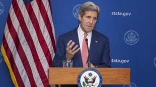 John Kerry, en déplacement en Inde, a annoncé un cessez-le-feu de 72 heures dans la bande de Gaza