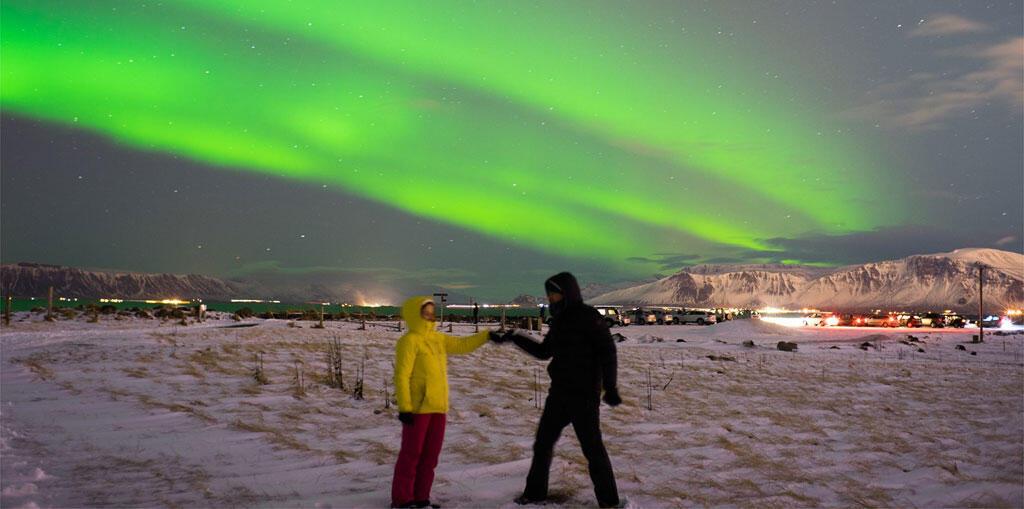 Islande. Anne-Cécile Bras et François Porcheron en quête des aurores boréales.